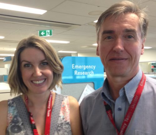 Amanda Williams and Prof Franz Babl fromPREDICT